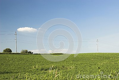 Telephone wire in country