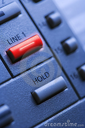 Free Telephone With Lit Line One Button Stock Photography - 12969302
