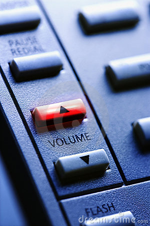 Free Telephone With Lit Volume Up Button Royalty Free Stock Image - 12969096