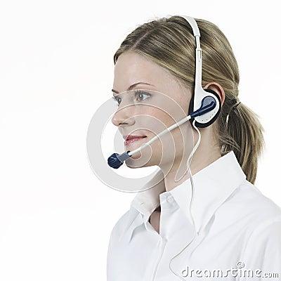 Telephonist white shirt
