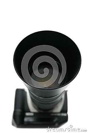 Telephoto lens on slr camera