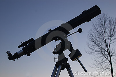 Telescope at Dusk