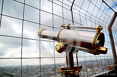 Telescope on Eiffel tower