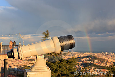 Telescope look at the city
