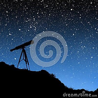 Free Telescope Under The Stars Stock Image - 3641241