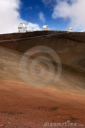 Telescopes on Mauna Kea volcano, Big Island,Hawaii