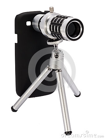 Free Telescopic Lens Attachment For A Smartphone Stock Photography - 51036962