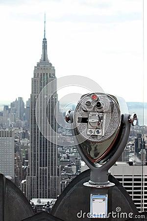 Telescopio de visita turístico de excursión Fotografía editorial