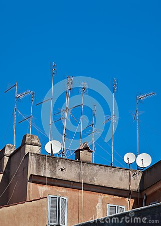 Television aerials and satellite dishes