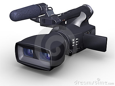 Television camcorder 3D dual-lensed