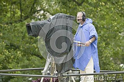 Television cameraman Editorial Image