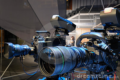 Television cameras in studio.