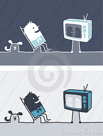 Television colored cartoon