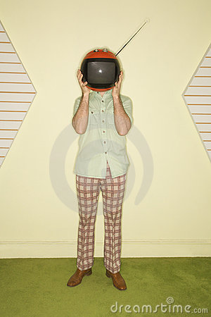 Television covering face