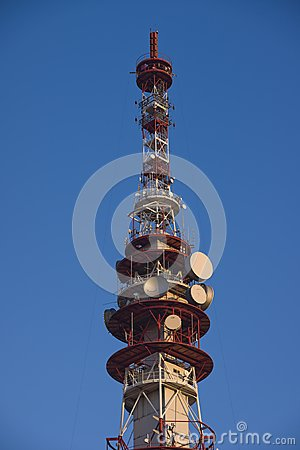 Television, GSM and internet transmission tower