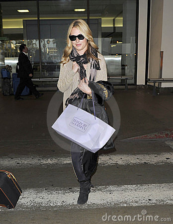 Television presenter Cat deeley at LAX airport Editorial Photo