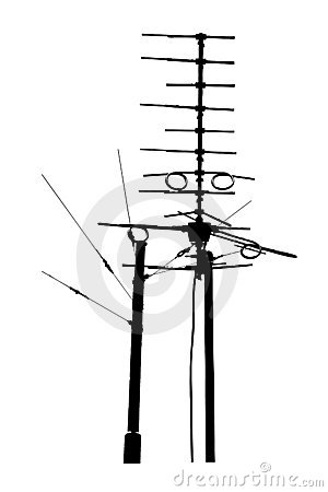television rooftop antennas