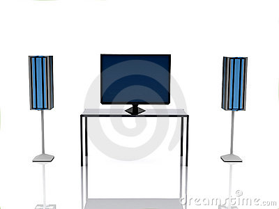 Television set and rows