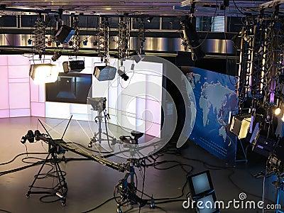 Television studio equipment, spotlight truss and p