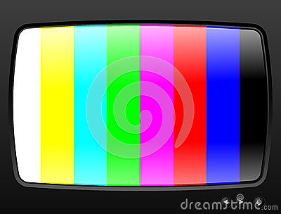 Television with test image