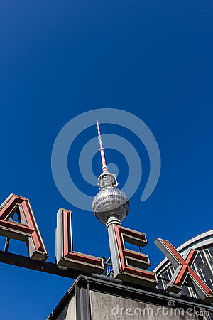 Television tower (Fernsehturm) and ALEX letters