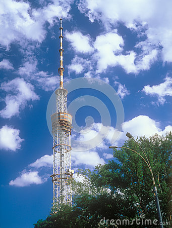 Television tower in Kyiv, Ukraine.