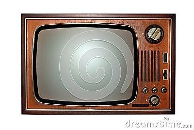 Televisione Vecchia, TV Retro Immagini Stock - Immagine: 5567564