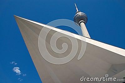 Televisiontower at Alexanderplatz in Berlin