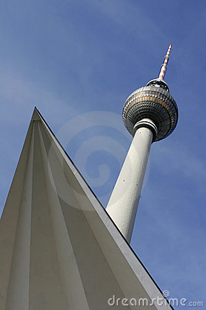 Televisiontower or Fernsehturm in Berlin