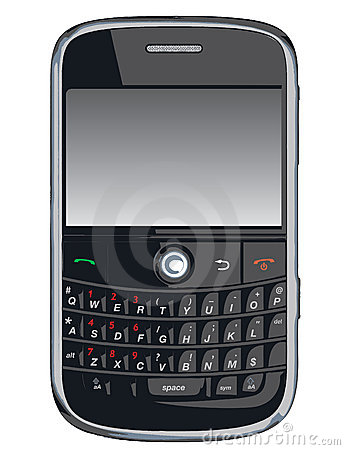 Teléfono celular del vector/PDA/zarzamora