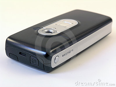 Teléfono móvil de alta tecnología con las cámaras digitales