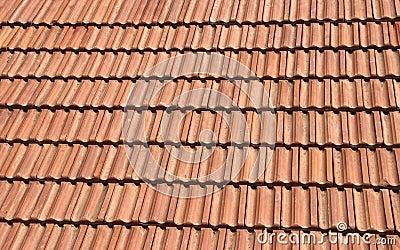 Telhado de telha vermelha