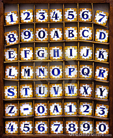 Telhas do alfabeto