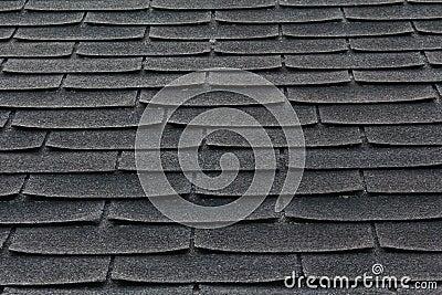 Telhas em um telhado