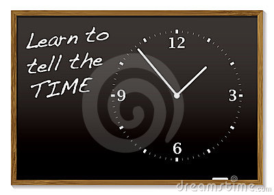 Tell the time blackboard