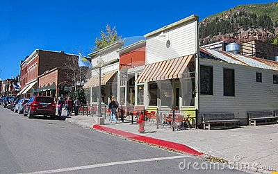 Telluride Colorado Redactionele Stock Afbeelding