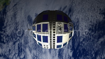 Telstar 1 satellite, 1962. Telstar was the world`s first transatlantic broadcast satellite launched in 1962 royalty free illustration
