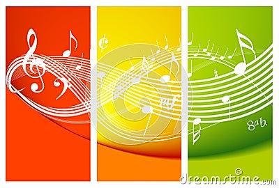 Tema fresco de la música