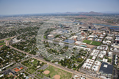 Tempe, Arizona from above