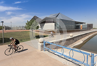 A Tempe Center for the Arts Biking Shot Editorial Photography