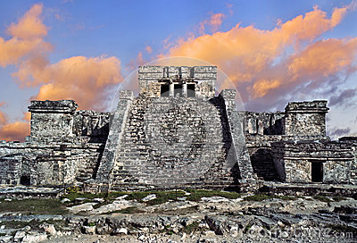 Tempel i Tulum, Mexico