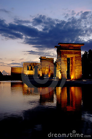 Tempel van Debod in Madrid