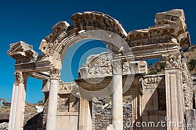 Tempel von Hadrian, die Türkei