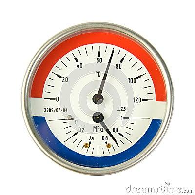 Temperature and pressure meter