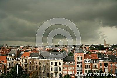 Tempestad de truenos de la ciudad