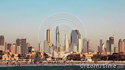 Tempestade de areia em Dubai video estoque
