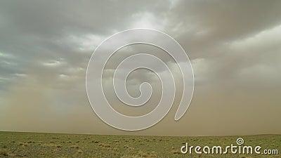 Tempestade de areia no deserto de Gobi na Mongólia filme
