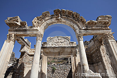 Tempiale del Hadrian, Ephesus, Smirne, Turchia