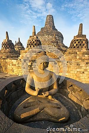 Tempiale di Borobudur, Yogyakarta, Java, Indonesia.