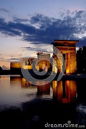 Tempiale di Debod a Madrid